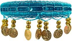 Haarband Zigeuner Luxe Turqoise