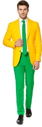 Herenkostuum OppoSuits Green and Gold