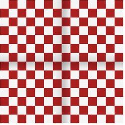 Zakdoek Geblokt Rood-Wit (54x54cm)
