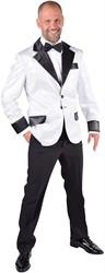 Glitter Colbert Wit voor heren