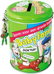 Spaarpot babyfonds cartoon