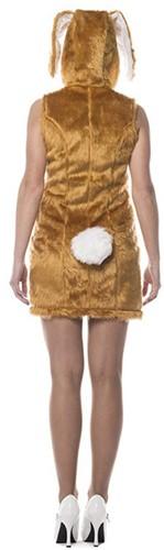 Dameskostuum Sexy Paashaasje Bruin-2