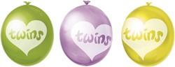 Ballonnen Twins (Tweeling) 10st.