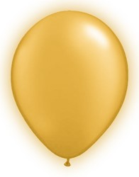 LED Ballonnen Goud (5 stuks)