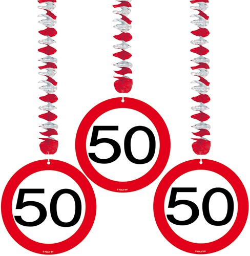 Hangdeco 50 jaar Verkeersbord