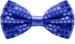 Pailletten Strikje Blauw