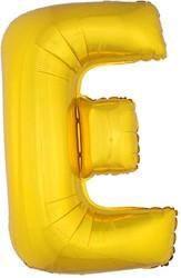 Folieballon Letter E Goud 100cm