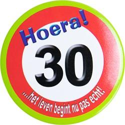 Button Hoera 30 jaar
