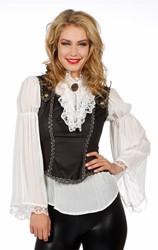 Luxe Piratenblouse Ecru met Top voor dames