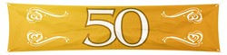 Banner 50 Goud 180x40cm