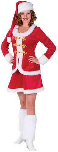 Dameskostuum Kerstvrouw luxe