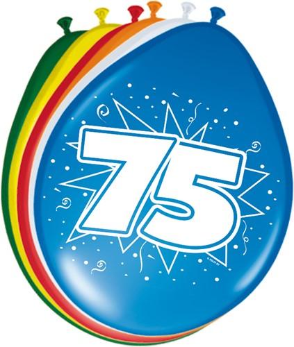 Ballonnen 75 jaar 8st