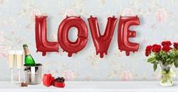 Folie Ballonnenset LOVE (Rood - 36cm)