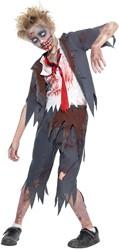 Halloweenkostuum Zombie Schooljongen