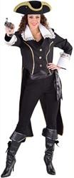 Admiraalsjas Zwart voor dames