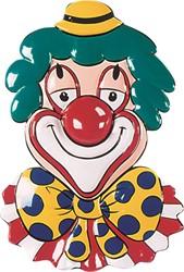 Deco Clowns Hoofd met Strik