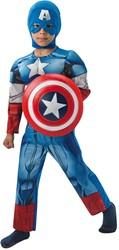Kinderkostuum Captain America Deluxe