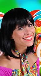 Pruik Samantha Luxe Zwart