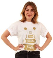 Toppers T-Shirt Happy Birthday Party Wit
