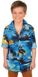 Hawaii Blouse Blauw voor kinderen