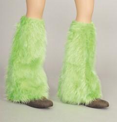 Beenwarmers Hippie Pluche Neon Groen