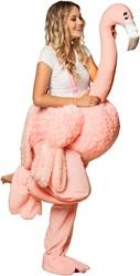 Piggyback Kostuum Flamingo Luxe