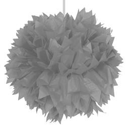 Decoratie Pompom Zilver 30cm