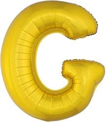 Folieballon Letter G Goud 100cm