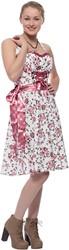 Bloemen Dirndl Roze 60cm Luxe 2dlg. (100% Katoen)