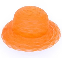 Dameshoed Organza Oranje