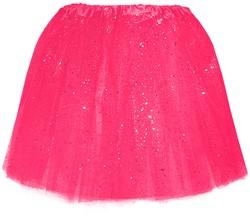 Tule Rokje Neon Pink met Glitter