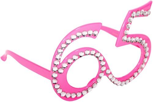 Bril 65 jaar Diamant Roze