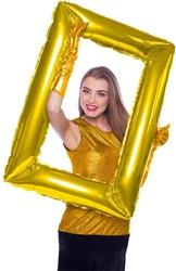 Folieballon Fotolijst Rechthoekig Goud (85x60cm)