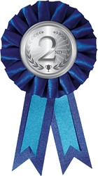 Medaille Rozet 2e Zilver