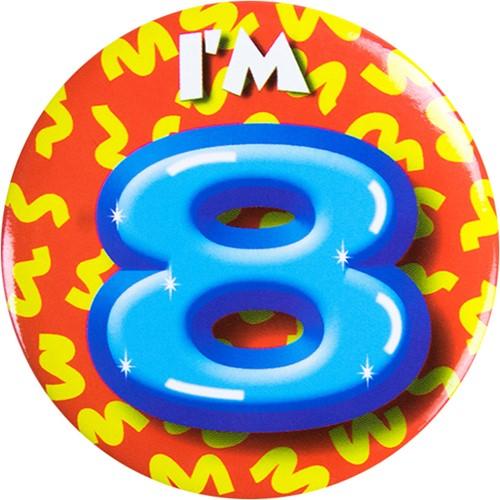 Button 8 jaar