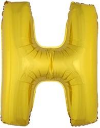 Folieballon Letter H Goud 100cm