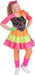 Eighties Disco Jurkje Fluor Neon voor meisjes