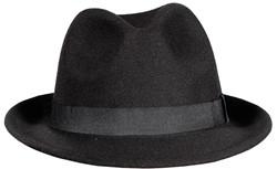 Gangster Hoed Zwart Luxe