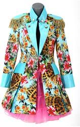 Dames Carnavalsjas Panther Flower Lang Luxe