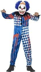 Halloweenkostuum Enge Clown voor kinderen