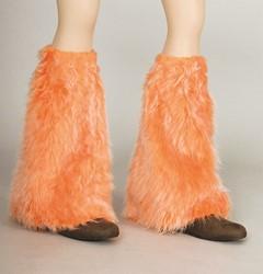 Beenwarmers Hippie Pluche Oranje