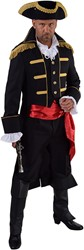 Heren Mantel Admiraal Zwart
