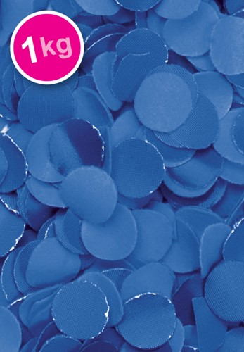 Confetti 1 Kilo Blauw