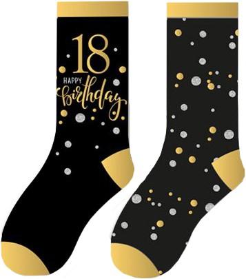 Happy Birthday Sokken 18 Sparkling Celebrations (2 paar)