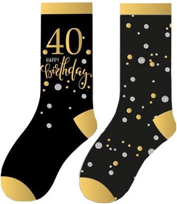 Happy Birthday Sokken 40 Sparkling Celebrations (2 paar)