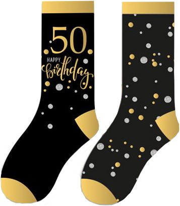 Happy Birthday Sokken 50 Sparkling Celebrations (2 paar)