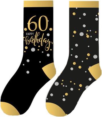 Happy Birthday Sokken 60 Sparkling Celebrations (2 paar)
