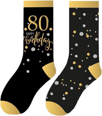 Happy Birthday Sokken 80 Sparkling Celebrations (2 paar)