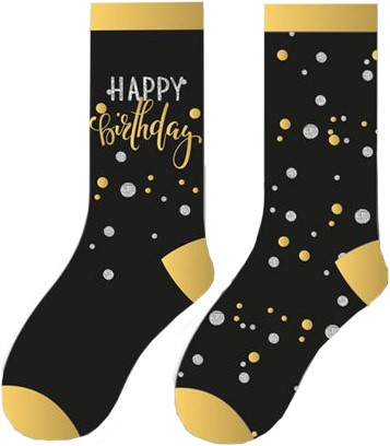 Happy Birthday Sokken Sparkling Celebrations (2 paar)