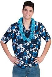 Hawaii Blouse Blue Flower